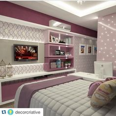 45 creative diy farmhouse home decor ideas and inspirations Girl Bedroom Designs, Girls Bedroom, Bedroom Decor, Bedrooms, Bedroom Ideas, Dream Rooms, Dream Bedroom, Interior Decorating, Interior Design