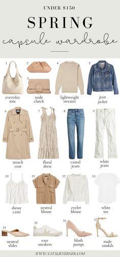 Neutral Spring Capsule Wardrobe for 2020 – Natalie Yerger Capsule Outfits, Fashion Capsule, Fashion Outfits, Packing Outfits, Capsule Wardrobe Summer, Capsule Wardrobe Neutral, Capsule Clothing, Capsule Wardrobe Essentials, Fashion Tips