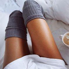 Soft Knit Thigh High Stockings