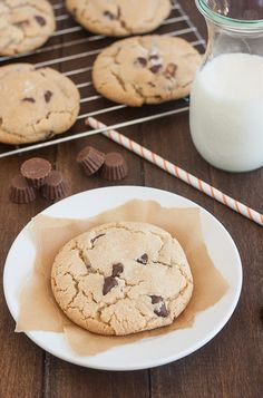 Salted Chocolate Chip Peanut Butter Cup Cookies by Tracey's Culinary Adventures