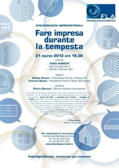 Chienes (BZ): conversazioni imprenditoriali con Stefan Rubner e Gaetano Rasom
