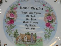 HOUSE BLESSING PLATE 18k Gold Decorative by EauPleineVintage, $11.00