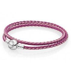 Pandora Armband dubbel Moments roze mix 590747CPMX-D3