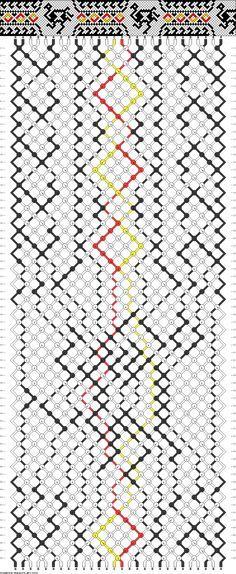 Ostrich Friendship Bracelet Pattern