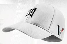 7c3912a1a6897 Nike TW Tiger Woods Tour FlexFit Golf Cap Hat 2010 Victory Red One L XL  White