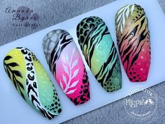 Fabulous Nails, Gorgeous Nails, Pretty Nails, Tiger Nails, Cat Nails, Zebra Nails, Nail Logo, Animal Nail Art, Stiletto Nail Art