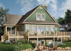 W3914a - Open Floor Plan Chalet With Large Deck, Master And Living With…