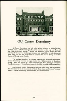 Baker Center (Old), You the Coed, 1957-1958 :: Ohio University Archives