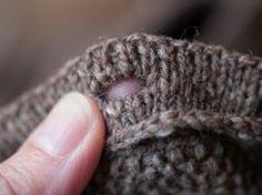 New Photographs knitting techniques tools Thoughts Anna Zilboorg's perfekte Knopflöcher für Strickteile – beschrieben in Bild und Text (engl) vo Knitting Help, Knitting Stiches, Knitting Yarn, Hand Knitting, Knit Stitches, Knitting Buttonholes, Knitting Patterns, Crochet Patterns, How To Purl Knit