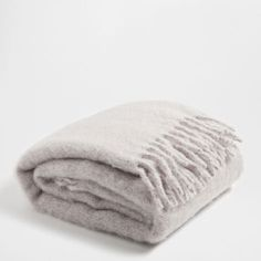 Mink-Coloured Mohair Fringe Blanket - Blankets - Decoration | Zara Home Germany