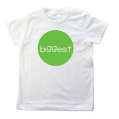 Big, Bigger, Biggest Sibling personalized t-shirt! This would be great for Elijah!