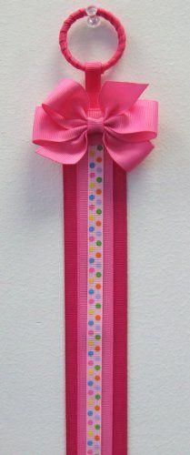 Display Hair Bow Holder | Amazon.com: Rainbow Dots Hair Bow Holder (Hot Pink): Clothing