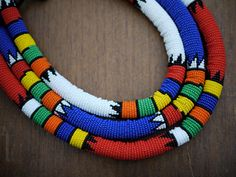 White Zulu Necklace - Medium. $38.00, via Etsy.
