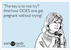 'The key is to not try'? And how DOES one get pregnant without trying?