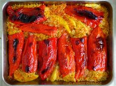 Healthy Food, Healthy Recipes, Greek Dishes, Food Ideas, Food And Drink, Stuffed Peppers, Vegetables, Cooking, Healthy Foods