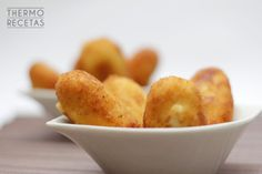 Croquetas de gorgonzola y nueces Snack Recipes, Cooking Recipes, Healthy Recipes, Snacks, Delicious Recipes, Fusion Food, Empanadas, Fritters, Tapas