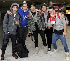 Heroes' welcome: Australian comedy group, The Janoskians, received a rock star welcome as they arrived at London's Heathrow Airport on Friday