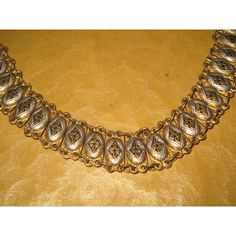 Vintage Jewelry Bracelet Linked Bracelet Damascene Spain Black Gold... ($35) ❤ liked on Polyvore featuring jewelry and bracelets