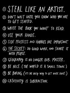 Steal Like an Artist: Creativity in the Age of the Remix / Author Austin Kleon explains why it's OK to steal a few ideas now and then. (The Atlantic, March 8, 2012)