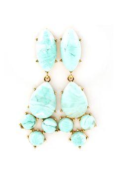Ocean Blue Ivory Earrings | Emma Stine Jewelry Earrings