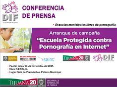 """""""Escuela Protegida Contra Pornografía en Internet"""" campaña en colaboración con DIF Tijuana #SAINT"""
