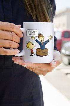 Hobbes et Doctor Who Calvin dixième Docteur boire la tasse