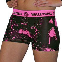 Svforza Splat Neon Pink Spandex Volleyball Short