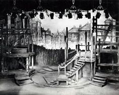 Oliver. New Theatre, London. Scenic design by Sean Kenny. 1960