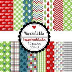 Digital Scrapbooking Wonderful Life by azredhead on Etsy, $1.50