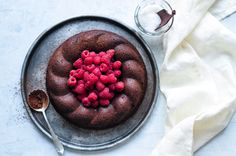 This Salted Butter Chocolate Cake is rich and sophisticated, perfect for dinner parties. A delicious recipe from Mimi Thorisson.