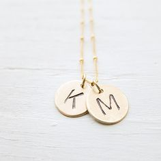 Custom Goldfill Personalized Initial Necklace  2 by CamileeDesigns, $47.00