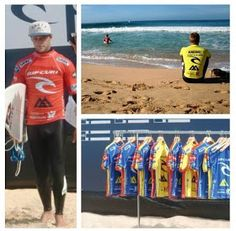 Pro surfer Josh Kerr and  Kolohe Andino getting ready for their heat! Worldwide Traveler: PENICHE, Rip Curl Pro 2012 #surf #surfing @Rip Curl