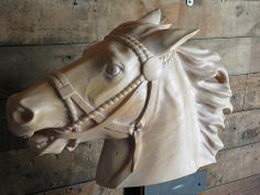 Horse carving by Michael J. Horse Sculpture, Animal Sculptures, Horse Head, Horse Art, Pretty Horses, Beautiful Horses, Carosel Horse, Wooden Horse, Painted Pony