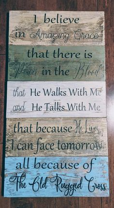 I Believe In Amazing Grace That There Is Power In The image 0 Diy Wood Signs, Pallet Signs, Rustic Wood Signs, Woodworking Plans, Woodworking Projects, Woodworking Beginner, Woodworking Workshop, Woodworking Supplies, Woodworking Classes