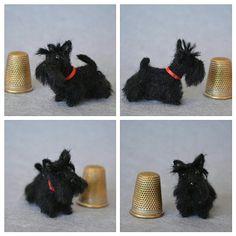Scottish terrier Custom order Needle Felted miniature Scottie