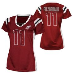 Larry Fitzgerald Arizona Cardinals Womens Draft Him Shimmer V-Neck T-Shirt  - Cardinal df97e9e2fd