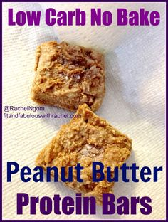 Have you ever made your own protein bars? They are super simple and WAY better for you than store bought protein bars. You'll have a healthy snack ready for you to grab and go!