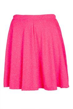 Fluro Pink Skater Skirt