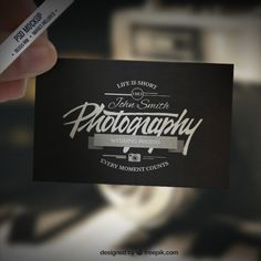 Business card mockup in retro style Free Psd