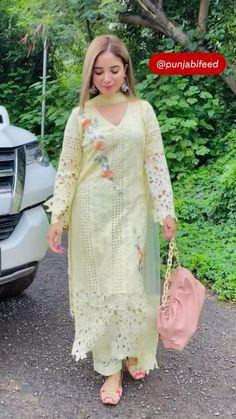Pakistani Bridal Lehenga, Pakistani Dress Design, Pakistani Dresses, Indian Dresses, Punjabi Salwar Suits, Patiala Salwar, Silk Rose Petals, Embroidery Suits Design, Designer Dresses