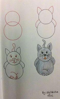 Simple drawings for kids Easy Drawings For Kids, Drawing For Kids, Drawing S, Painting & Drawing, Art For Kids, Simple Drawings, Drawing Ideas, Doodle Drawings, Animal Drawings