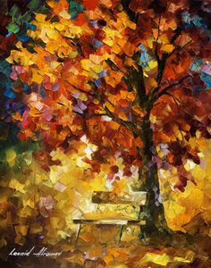 DREAMS OF AUTUMN - Original Oil Painting On Canvas By Leonid Afremov - 16