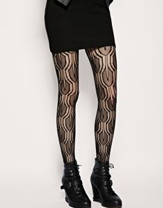 patterned lace tights -not a sometimes food