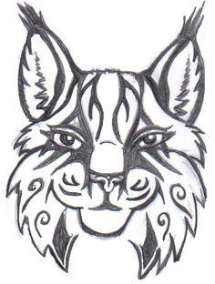 Plus D`images Similaires à ` LYNX/tatouage Tête De Chat