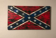 Torched Confederate flag wood by PalletcreationsByTim on Etsy