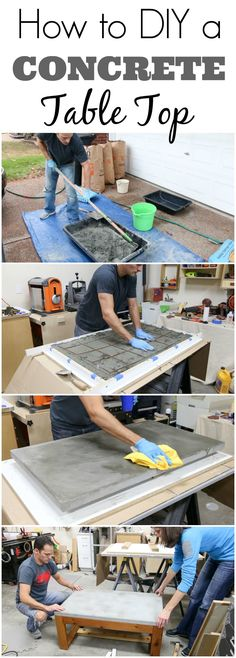 Learn how to DIY your own concrete table top. It's not as hard as you think, and I'm sharing the lessons I learned on my FIRST time working with concrete.