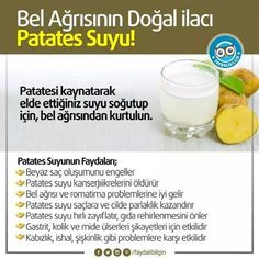 Bel ağrısının ilacı: Patates suyu‼️ Patatesi kaynatarak elde ettiğiniz suyu soğutup için, bel ağrısından kurtulun. Yalnız patatesi kaynatmadan önce üze... - f. özbağ - Google+