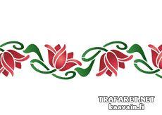 Bordürenmotiv der Jugendstil 33 • Schablone für die Inneneinrichtung • Wandschablonen kaufen - wiederverwendbar Dekorschablonen
