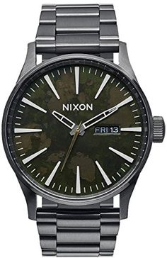 Gunmetal Grey/Green Oxyde The Sentry SS Watch by Nixon -- Details can be found by clicking on the image.
