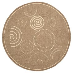 Safavieh Cannes Patio Rug - Brown / Natural (